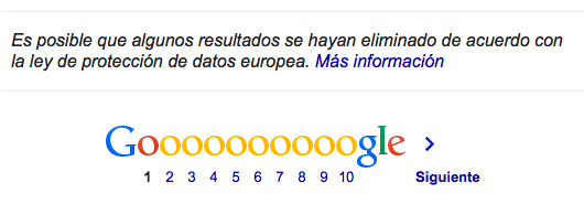 google proteccion datos